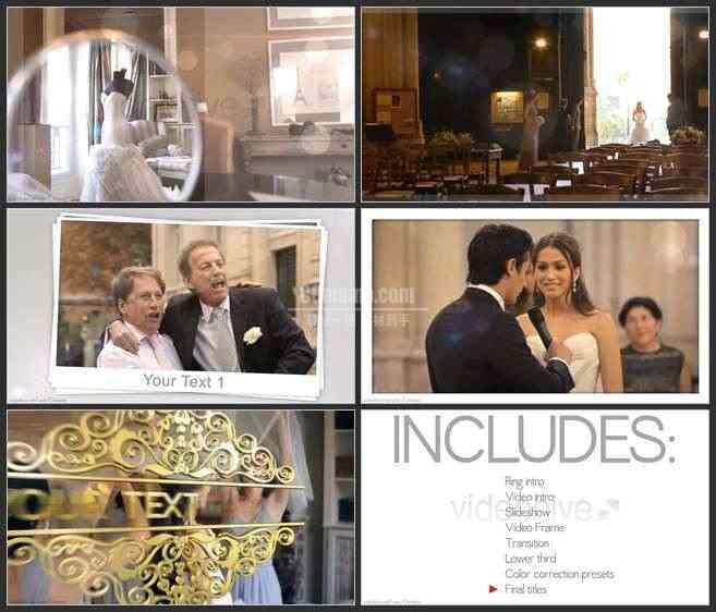 AE2520-戒里爱的契约 婚礼视频展示 婚庆类