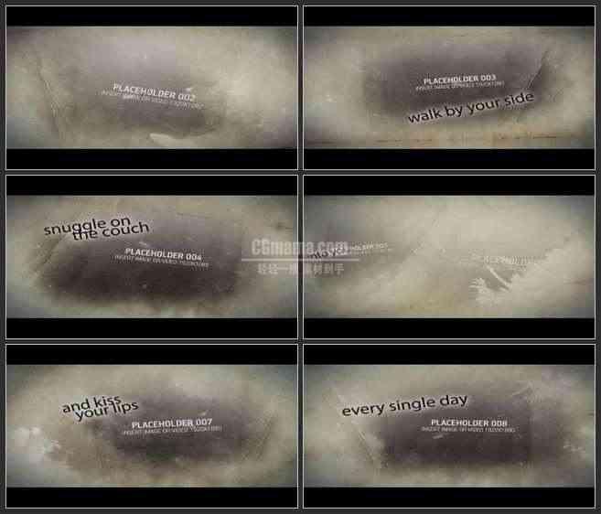 AE2536-古朴风 纸张晕染 图文展示 宣传片