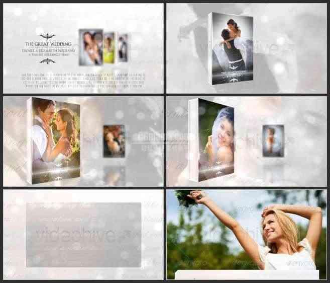 AE2542-白色唯美照片展示 婚庆类相册