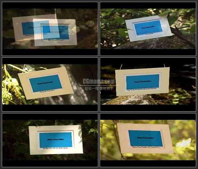 AE2555-田园风 悬挂在树上的相框 相册 家庭类