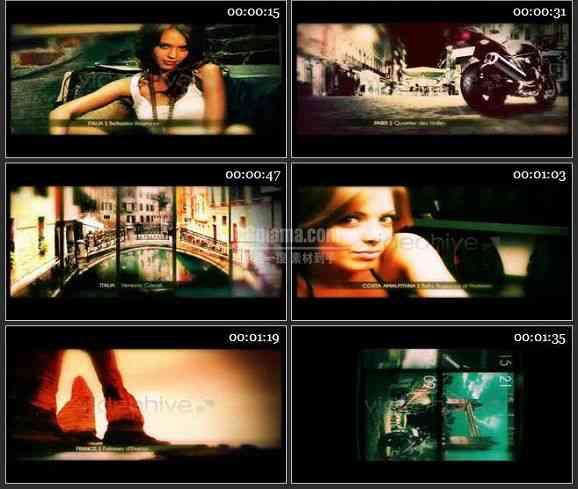 AE1264 闪光过渡电影胶片模板 图片展示
