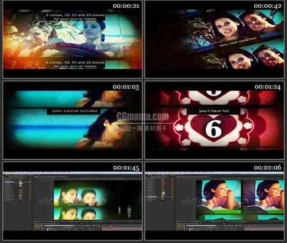 AE1265 炫光复古效果时尚电影包装 图片展示