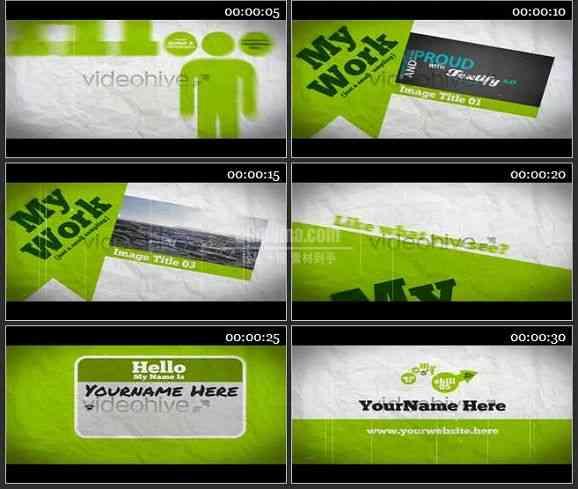 AE1275 绿色环保商务类广告片头 图文展示