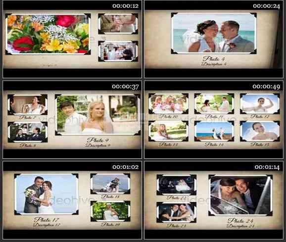 AE1279 婚礼相册模板