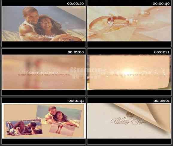 AE1281 翻页素描效果婚礼模板 图片展示