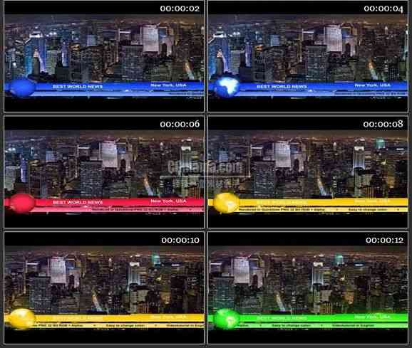 AE1311 新闻栏目电视包装下横栏