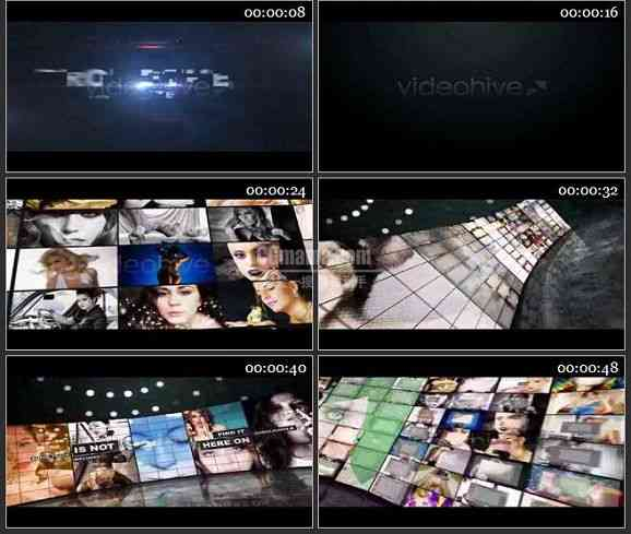 AE1358 相片墙效果广告模板