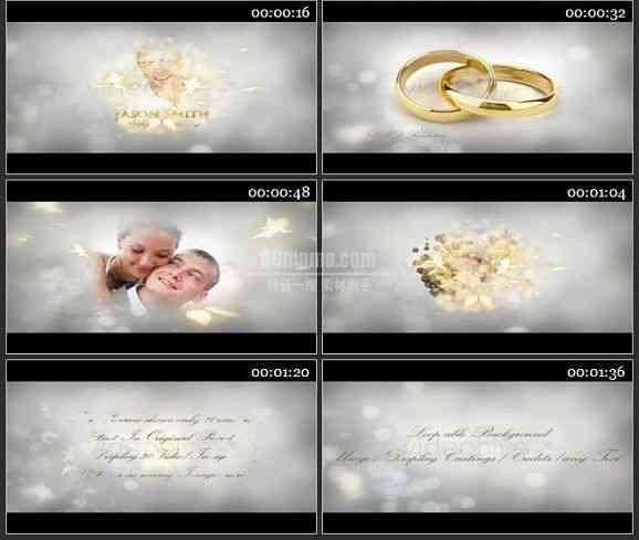 AE1366 婚庆视频包装-我们的婚礼 相册