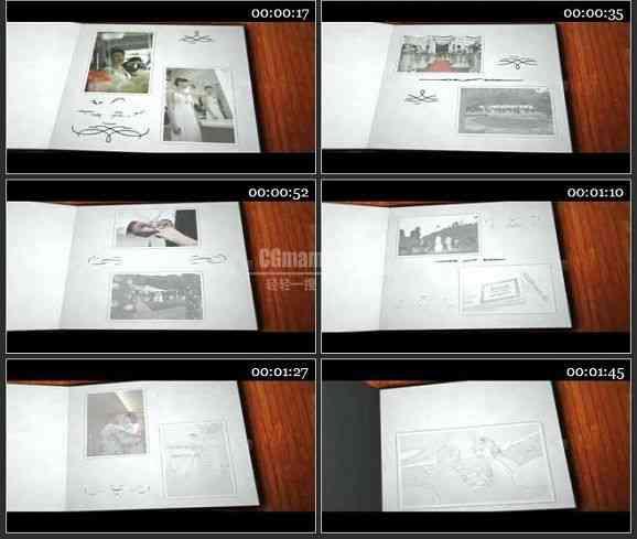 AE1370 素描回忆效果婚礼相册模板