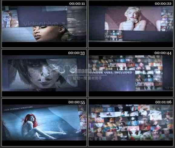 AE1376 相片墙过渡效果广告电视栏目包装模板