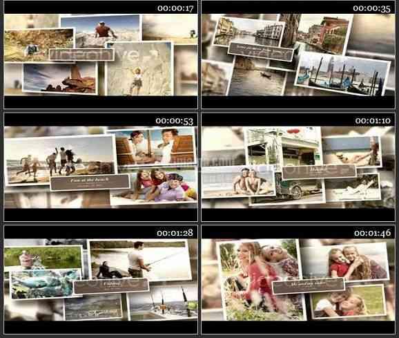 AE1384 我的生活旅游家庭相册模板