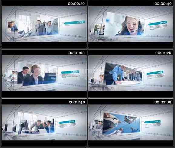 AE1388 公司时间表 企业包装模板