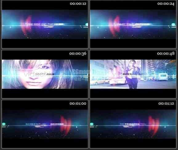 AE1395 震撼光晕粒子效果电影预告 文本展示