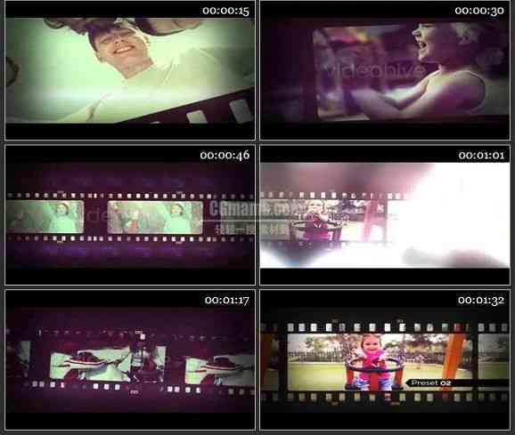 AE1396 老电影胶片效果 图片视频展示