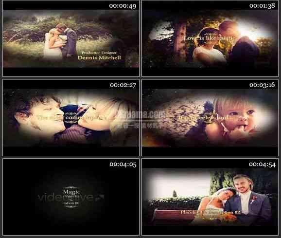 AE1398 婚庆视频整体包装包片头 图片展示