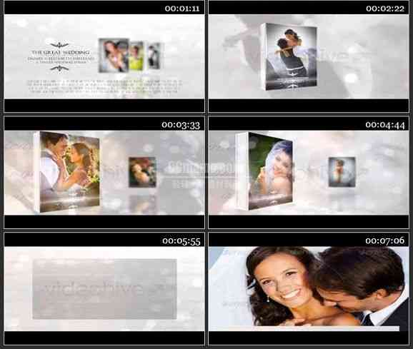 AE1418 婚庆相册整体包装片头片尾文字条