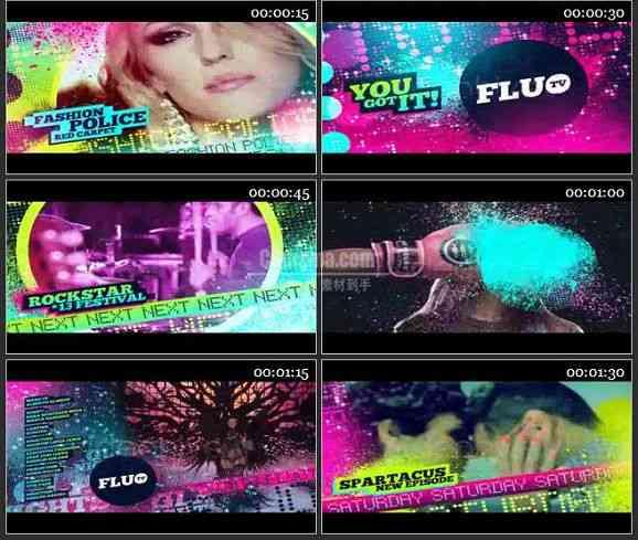 AE1422 音乐娱乐栏目电视包装模板