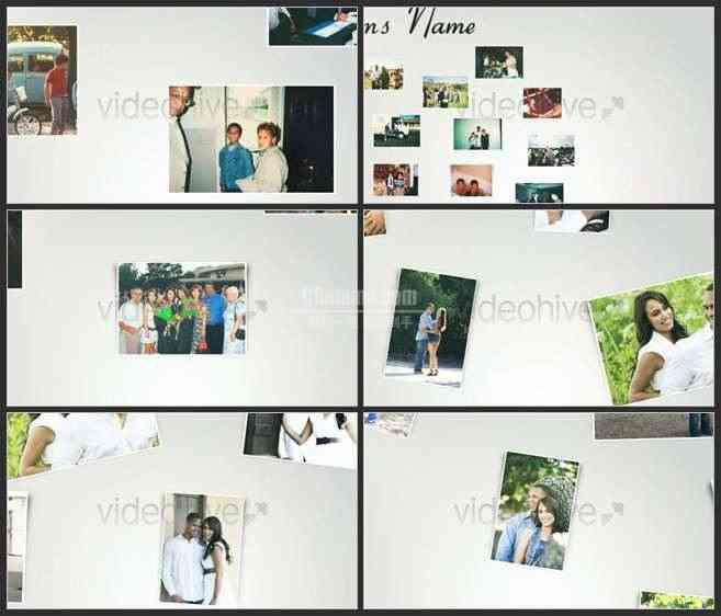 AE2565-自由摆放的照片 婚庆家庭类相册