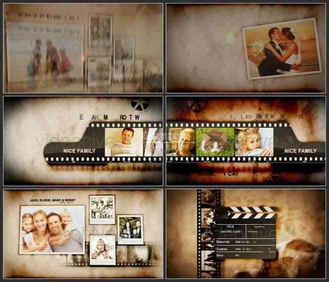 AE2567-老电影放映风格 照片展示 相册