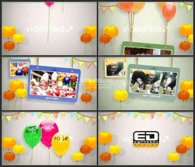 AE2574-欢乐卡通感恩节 图片展示