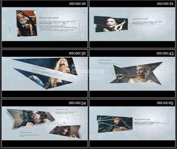AE1444 碎片组合现代风格广告模板 图文展示
