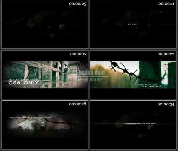 AE1446 废墟史诗效果 图片展示