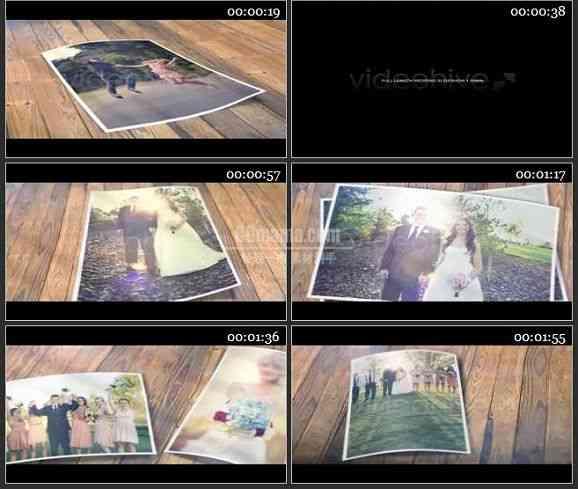 AE1451 桌面上老式婚礼相片展示 相册