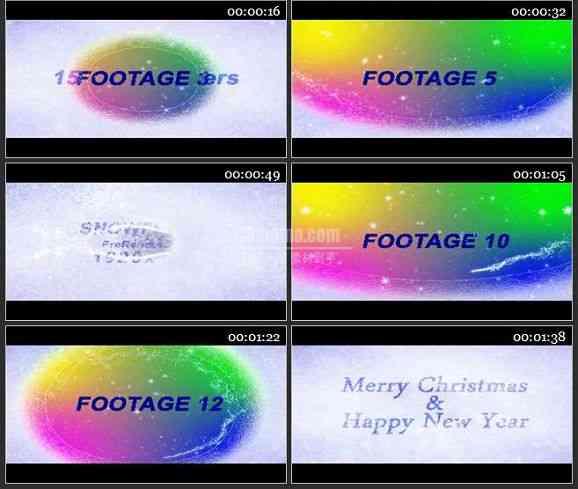 AE1465-奇妙的圣诞雪景 文本展示