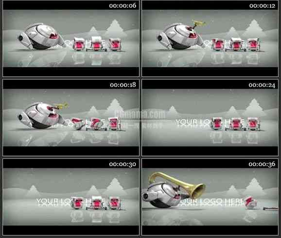 AE1466-机器人乐队 圣诞动画 宣传片