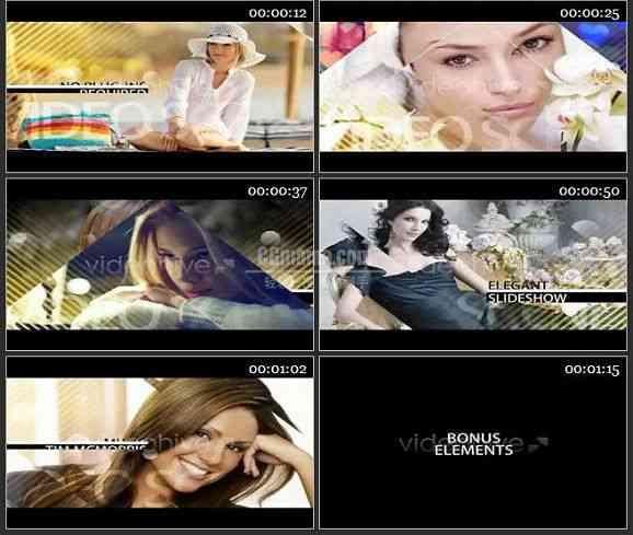AE1481 优雅过渡婚礼公司电视包装 图片展示