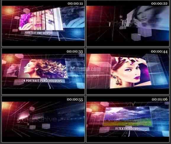 AE1489 节奏线条电视栏目包装模板