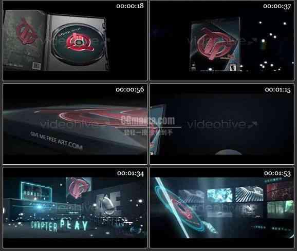 AE1513 DVD盒广告片头