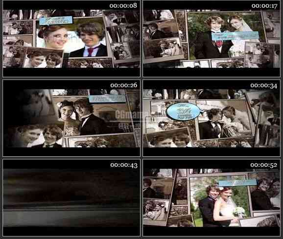 AE1530 幸福的日子婚礼片头 相册