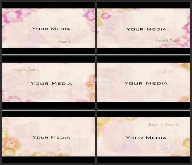 AE2592-典雅花卉 婚庆类 图文视频展示 宣传片
