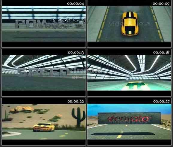AE1570 汽车广告AE 文本展示
