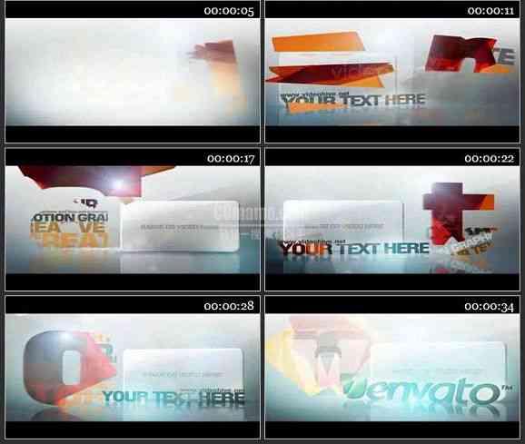 AE1589 优雅的动画展示电视包装模板 文本展示
