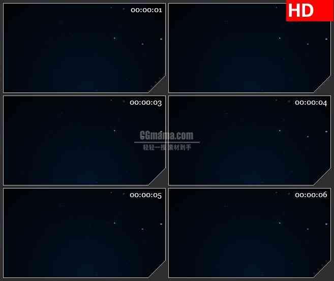 BG0803-星空银河白色粒子闪动动态LED高清视频背景素材