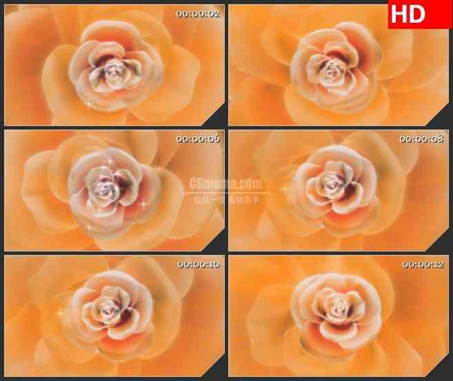 BG0807-鲜花花朵旋转高清浪漫视频背景大屏led视频素材