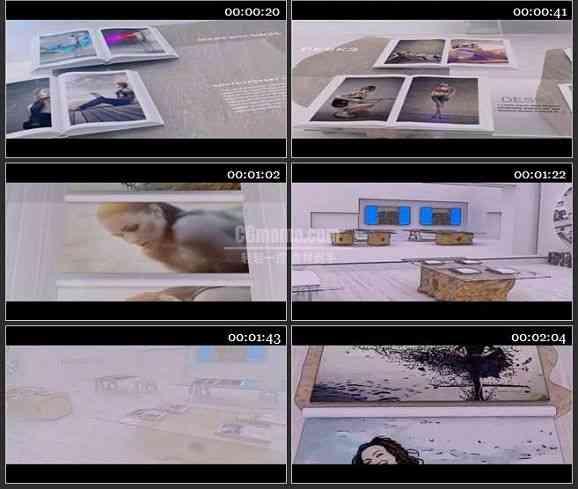 AE1642 桌面上相册展示时尚 图文展示