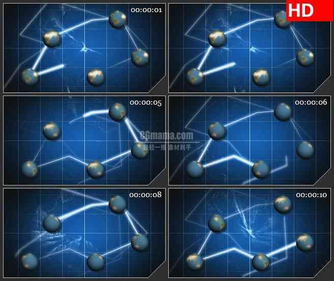 BG0824-世界地球连接高清led视频背景素材