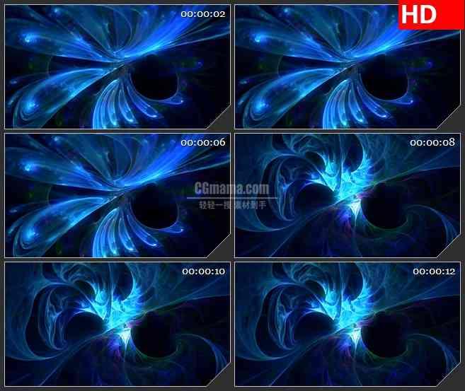 BG0830-分形等离子光效唯美旋转浪漫高清led大屏视频背景素材