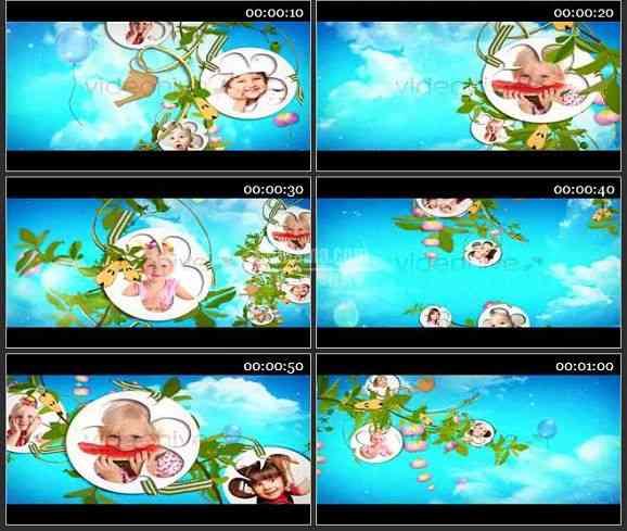 AE1656 神奇的梦儿童 相册模板