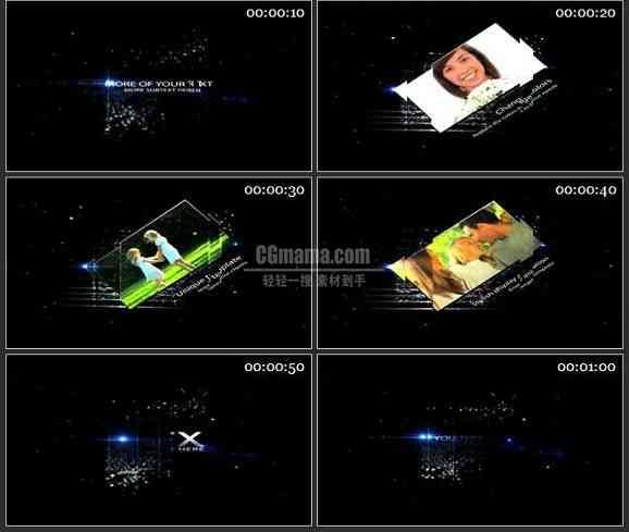 AE1669 星际背景视频 图片展示模板