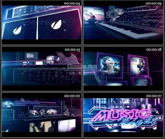 AE1670 音乐栏目包装音乐之夜
