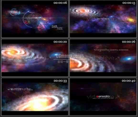 AE1679 唯美宇宙文字特效模板