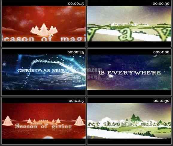 AE1682 超炫粒子圣诞节文字展示模板