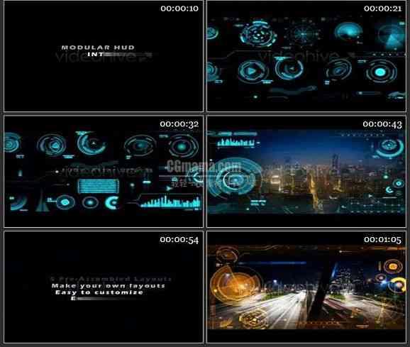 AE1683 高科技城市发展宣传模板
