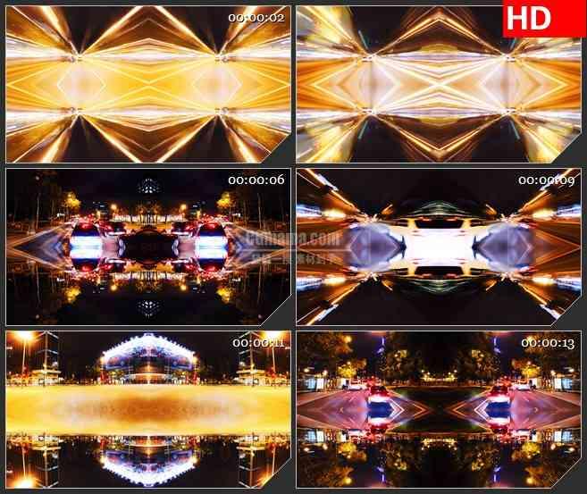 BG0856-汽车交通车流炫光光线高清led大屏视频背景素材