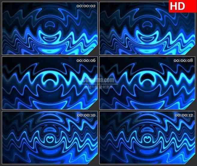 BG0860-脉动波纹循环蓝色高清led大屏视频背景素材