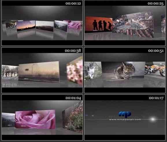 AE1693 手势触屏效果相片展示模板